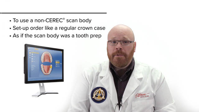 Video screenshot: Implant Scanning with Cerec